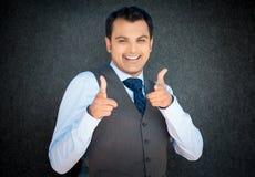 Homem feliz que aponta em você Foto de Stock Royalty Free