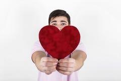 Homem feliz romântico do Valentim Foto de Stock