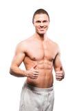 Homem forte, apto e desportivo do halterofilista fotografia de stock royalty free