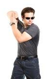 Homem forte com faca de exército Fotos de Stock Royalty Free