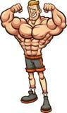 Homem forte com pés magros ilustração do vetor