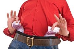 Homem forte inteligente com dinheiro. fotografia de stock royalty free