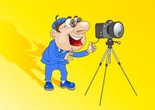 Homem-fotógrafo Fotografia de Stock