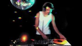 Homem fresco DJ video estoque