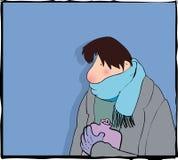 Homem frio Fotos de Stock