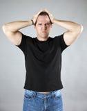 Homem frustrante Fotos de Stock