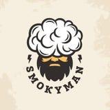 Homem fumarento do logotipo profissional moderno do sinal do vetor Imagens de Stock Royalty Free