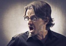 Homem furioso Fotografia de Stock