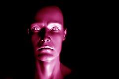 Homem futurista rendido Digital da ficção científica ilustração do vetor