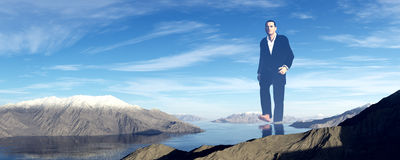 Homem gigante ilustração do vetor
