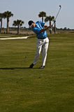 Homem Golfing Imagem de Stock