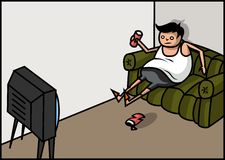 Homem gordo ilustração do vetor