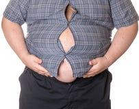 Homem gordo com uma barriga grande Foto de Stock