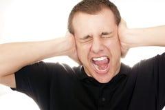 Homem gritando Imagens de Stock