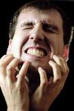 Homem gritando Fotografia de Stock