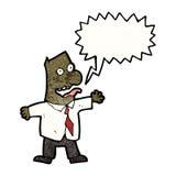 homem gritando dos desenhos animados Foto de Stock Royalty Free