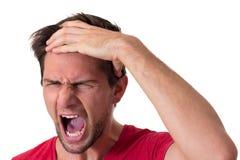 Homem gritando novo Imagens de Stock Royalty Free