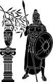 Homem helênico antigo ilustração stock