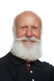 Homem idoso com uma barba longa Fotos de Stock Royalty Free
