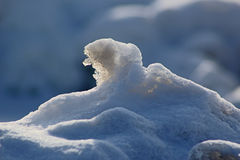 Homem idoso da neve Fotos de Stock