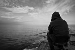 Homem idoso e o mar Fotografia de Stock
