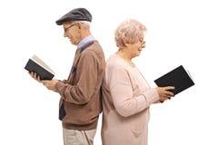 Homem idoso e uma mulher idosa com suas partes traseiras contra cada o Fotos de Stock Royalty Free