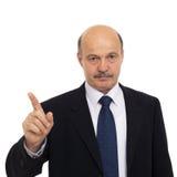 Homem idoso em um terno Fotografia de Stock Royalty Free