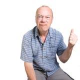 Homem idoso expressivo Fotos de Stock Royalty Free