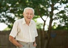 Homem idoso feliz Fotografia de Stock Royalty Free