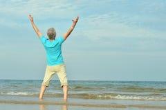 Homem idoso feliz Imagem de Stock