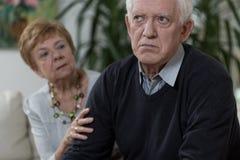 Homem idoso irritado Fotografia de Stock Royalty Free