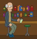 Homem idoso na barra Imagens de Stock