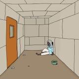 Homem idoso na prisão Foto de Stock Royalty Free