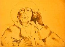 Homem idoso orgulhoso ilustração do vetor