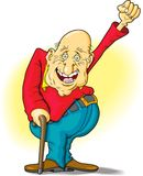 Homem idoso que mostra sua aprovaçã0 Fotos de Stock Royalty Free