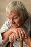 Homem idoso só Fotografia de Stock Royalty Free