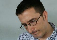 Homem incomodado Fotografia de Stock