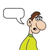 Homem incomodado dos desenhos animados Fotos de Stock