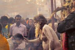 Homem indiano da bênção do sadhu Fotos de Stock