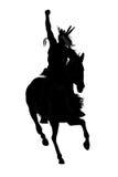 Homem indiano em um cavalo Fotos de Stock Royalty Free