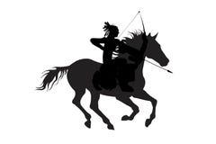 Homem indiano em um cavalo com isolado da curva Foto de Stock Royalty Free