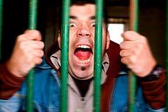 Homem insano Fotos de Stock Royalty Free