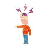 homem inteligente dos desenhos animados ilustração royalty free