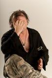 Homem irritado fotografia de stock royalty free