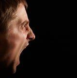 Homem irritado Fotografia de Stock