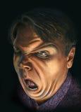 Homem irritado ilustração do vetor
