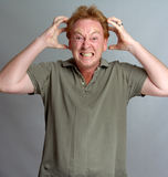 Homem irritado Fotos de Stock Royalty Free