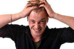 Homem irritado Imagens de Stock Royalty Free