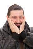 Homem irritado Foto de Stock