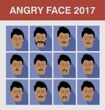 Homem irritado da cara do estilo Fotos de Stock